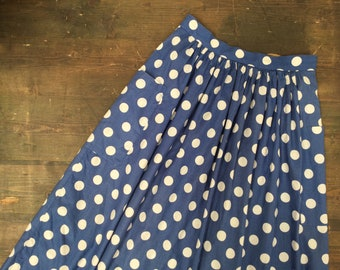 Polka Dot Skirt with Pockets
