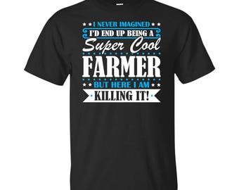 Farmer, Farmer Gifts, Farmer Shirt, Super Cool Farmer, Gifts For Farmer, Farmer Tshirt, Funny Gift For Farmer, Farmer Gift