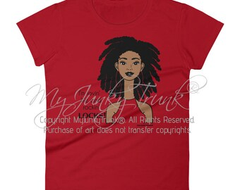 Dreadlocks- African American woman Natural Hair short sleeve crewneck t-shirt