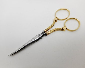19th century Rodgers cutler gilded scissors. c 1860
