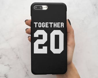 Personalized Text Couple Boyfriend & Girlfriend Matching Together Since Anniversary Gift Hard Case Cover For iPhone 7 iPhone 8 | C20