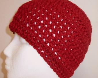 Red Beanie Red Crocheted Beanie Red Woolen Beanie Red Wool Beanie Red Beanie Hat Red Crocheted Beanie Hat Red Woolen Beanie Hat