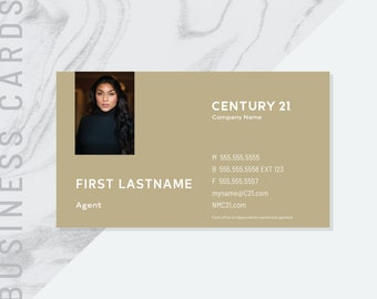 PDF Made to Order Century 21 Business Card, Real Estate Business Card, Realtor Business Card, Custom Business Card, Printable Digital File