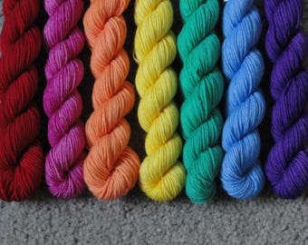 Over the Rainbow Merino/Nylon Sock Mini Skein Set
