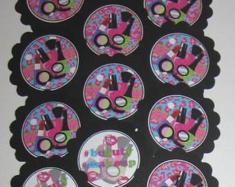 Makeup Artist/Cosmetologist Cupcake Toppers/Party Picks  Item #1750