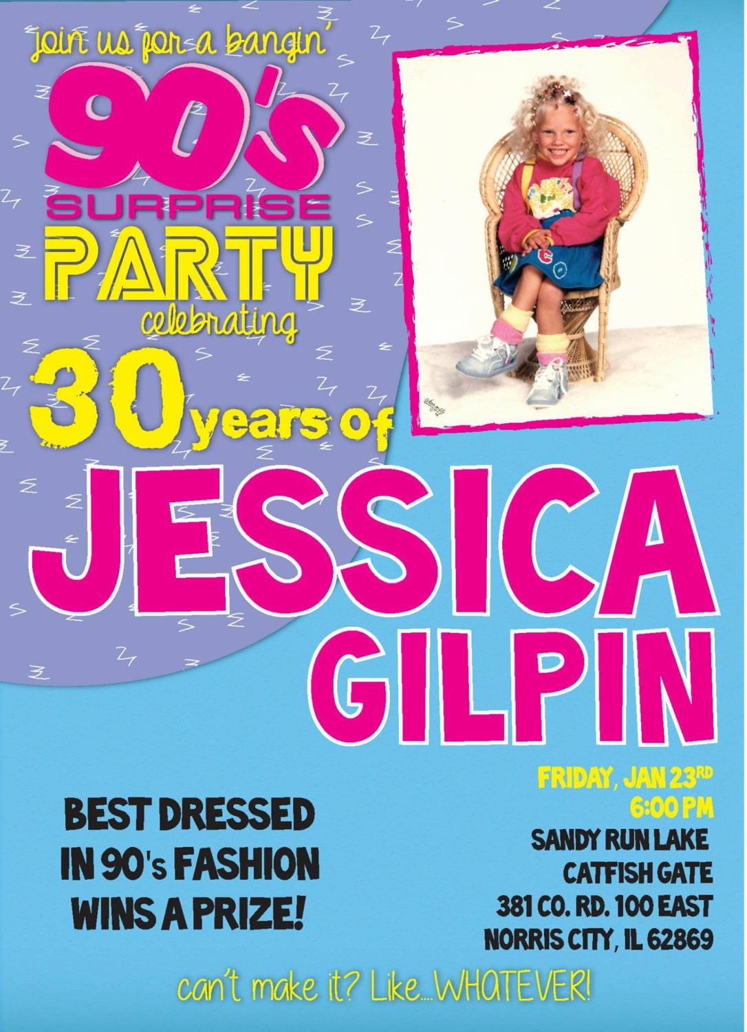 Ultimate S Party Invitation Digital File You Print At Home - 90s party invitation template