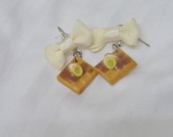 Earrings greedy banana chocolate waffles