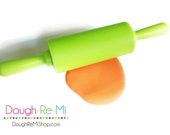 Silicone Rolling Pin - Kid Sized - Rolling Pin - Green