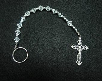 Irish Penal Rosary - One Decade Pocket, Car Rosary, Beautiful Detailed Crucifix
