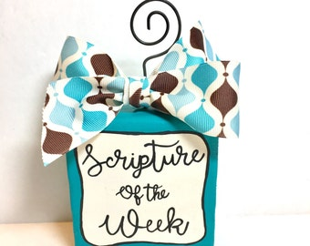 Scripture of the week, Bible verse display, verse of the week, memory verse display, Christian gift, religious art, Christmas gift, gift