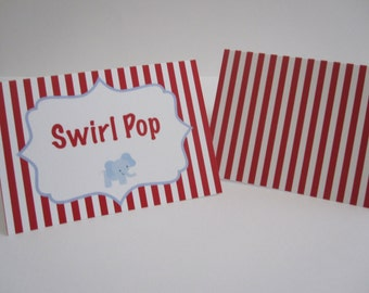 8 Personalized Carnival Circus Food Tents