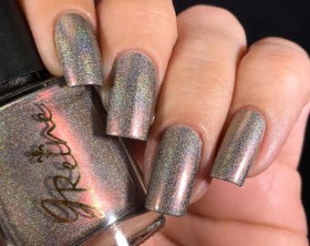 Flambeaux - Holo Mega Ultra Multichrome Holographic Nail Polish Red Gold Green Orange