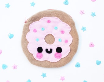 Donut Pouch - Kawaii Food, Pencil Case, Make Up Bag, Phone Case, 3DS Case, Christmas Gift