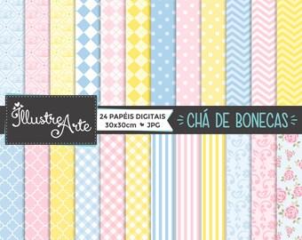 50% OFF - Digital Paper Baby Doll Tea
