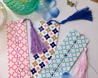 Special offer 3 Bookmarks with multicolour geometric patterns