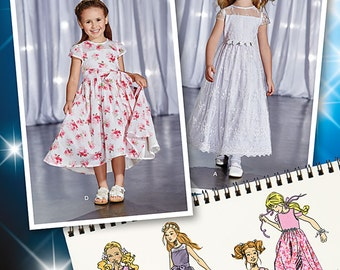 OUT of PRINT Simplicity Pattern 1173 Child's Project Runway Dresses