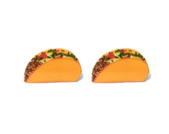 "Femme Foodie Collection ""Tuesday is For Tacos"" Taco Earrings - Food Lover - Taco Jewelry"