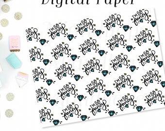 I'm So Fancy - Digital Paper