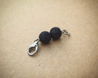 Black Lava Bead Essential Oil Diffuse Necklace Attachment Extender - Silver Tone - Diffuse Jewelry - The Oily Amulet