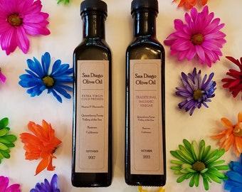 Extra Virgin Olive Oil & Balsamic Vinegar 250ml FREE SHIPPING