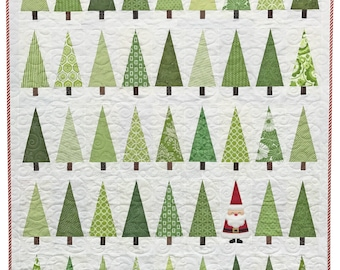 Santa in the Trees Quilt Pattern PDF