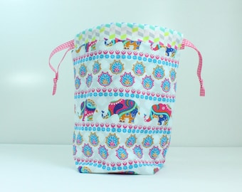 Elephants Two at a Time Sock Sack Bag/ Pouch