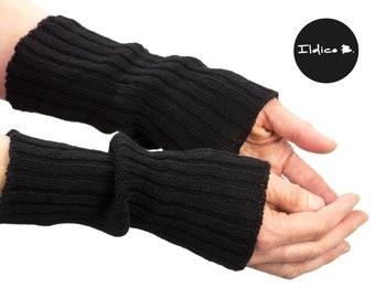 Cashmere gloves, 2:2 rib
