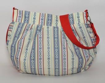 Bag, hobo bag, cross bags, handbag, shoulder bag, fabric bag, fabric patterned, canvas