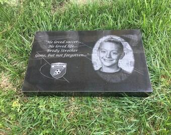 10 x 16x2 Granite Memorial Grave Marker Tombstone Headstone - Customized