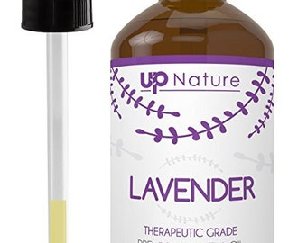 Lavender Oil 4 OZ - 100 Percent Pure and Natural, Undiluted and Unfiltered, With Glass Dropper