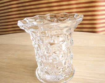 Vintage Fostoria American Large Flared Mouth / Rim Vase – Two Available – Excellent Condition