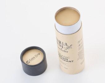 All Natural Deodorant – Organic and Vegan – For Women & Men – Zero Waste Biodegradable Packaging 2.5oz/74ml [Scent: Vanilla Bean + Lavender]
