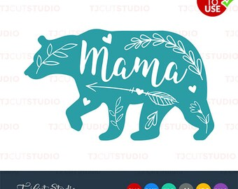 Mama bear svg, mothers day svg, mama bear, Files for Silhouette Cameo or Cricut, Commercial & Personal Use.
