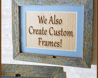 5 x 7s Barnwood Frames Single or Set. Authentic Old Barn Wood, Recycled, RePurposed, Reclaimed, Vintage Farmhouse, Rustic, Primitive!
