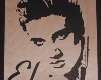 Portrait of Elvis Presley handmade singourge, ideal Christmas present