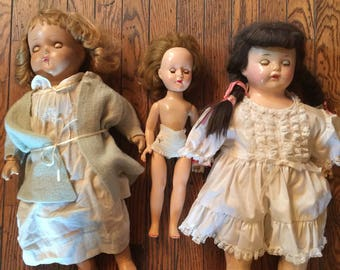 Lot of Composition Dolls Effanbee Horseman