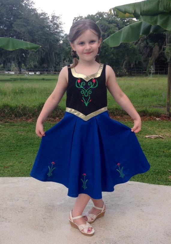 sc 1 st  Etsy & Anna pdf dress pattern size 2T 3T 4 5 6 6X 7 8 10 12