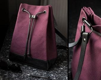 Mini Backpack - Burgundy Red Bucket Bag - Bucket Backpack - Small Backpack for Women - Cute Backpacks - Burgundy Red Backpacks for Girls