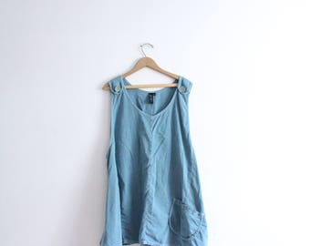 Teal Blue Hippie Trapeze Dress