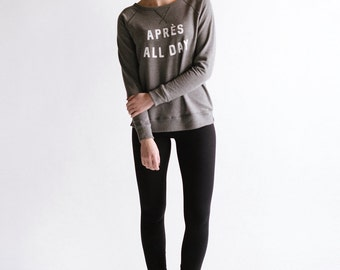Women's French Terry Sweatshirt | Après All Day Pullover | Coal