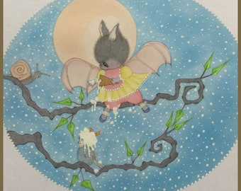 Original art Little Tilly fantasy lowbrow art