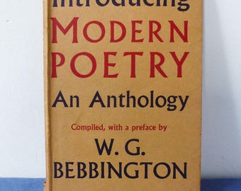 Introducing Modern Poetry book, Anthology, 1940s, Includes Day Lewis, Eliot, Spender, Auden, Macneice, Sitwell, Read and more, wartime poems