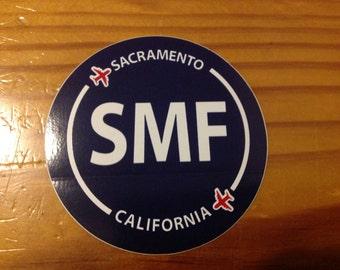 Sacramento SMF California Souvenir Airport Sticker