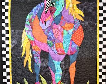 BJ Designs & Patterns Cheyenne Horse Applique Quilt Pattern