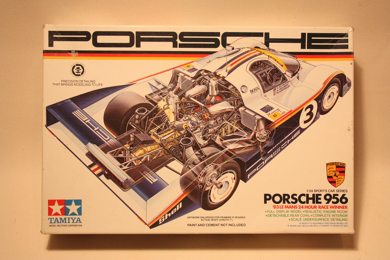 Vintage Tamiya Porsche 956 Plastic Model Kit