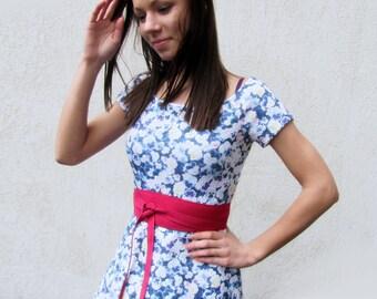 Pink Obi belt, Pink color wide waist belt