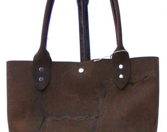 Tote with Brand in Hide