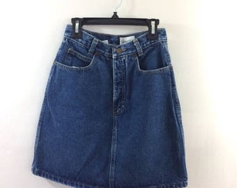 Vintage Calvin Klein High Waisted Jean Skirt
