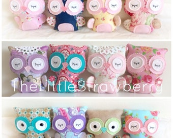 The Little Strawberry Shabby Chic Owl Softie PDF Pattern