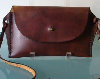 Vintage Mahogany Hard Body Small Crossbody Bag